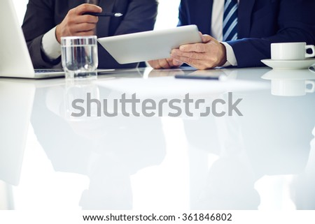 Businessmen discussing - stock photo