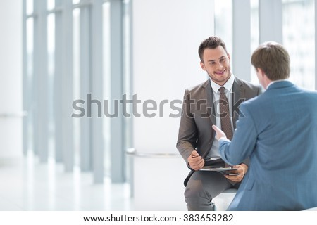 Businessmen on interview in office