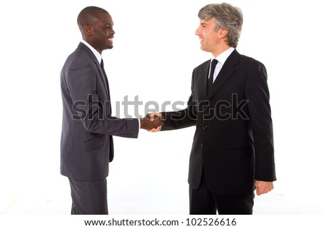 businessmen shaking hands - stock photo