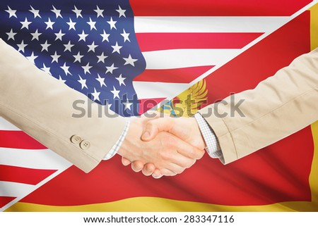 Businessmen shaking hands - United States and Montenegro