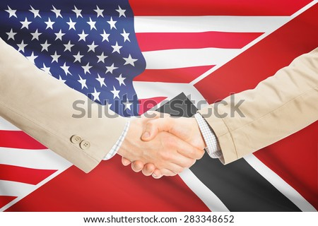 Businessmen shaking hands - United States and Trinidad and Tobago