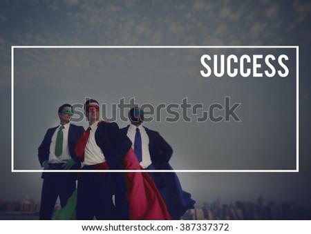 Businessmen Superheroes Success Mission Goal Concept - stock photo