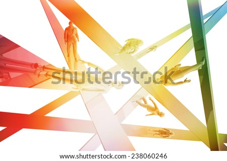 Businesspeople abstract concept - stock photo