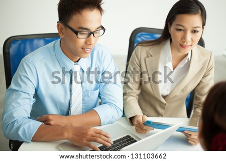 Businesspeople at their work at office - stock photo