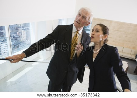 Businesspeople discussing. - stock photo