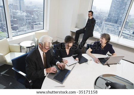 Businesspeople working - stock photo