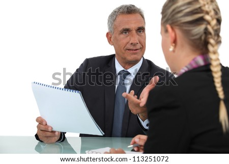Businesspeople working together - stock photo