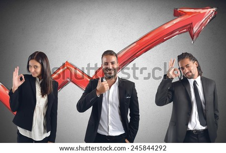 Businessperson satisfied and happy for financial profits - stock photo