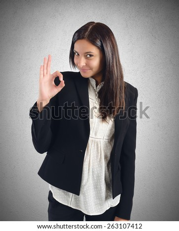 Businesswoman agreement with projects that improve work - stock photo