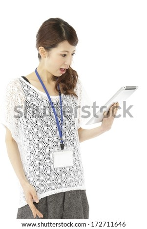 Businesswoman casual - stock photo