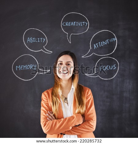 Businesswoman expertise and professional skills - stock photo