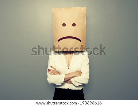 businesswoman have a bad mood - stock photo