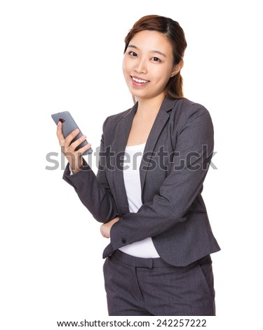 Businesswoman hold with cellpbone