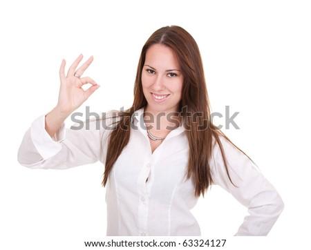 Businesswoman isolate on white background - stock photo
