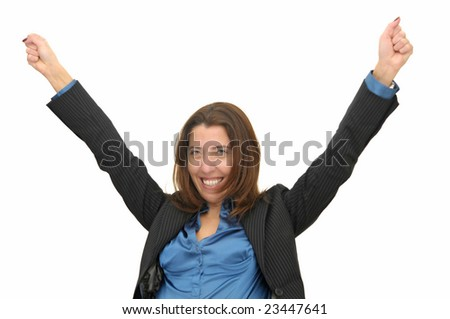 Businesswoman isolated against a white background