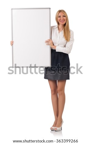 Businesswoman isolated on the white background - stock photo