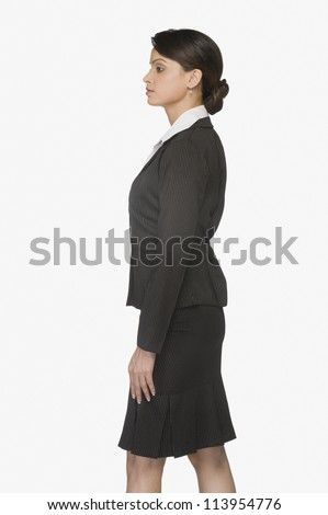 Businesswoman looking serious