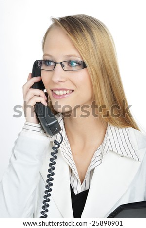 Businesswoman making a business phone call