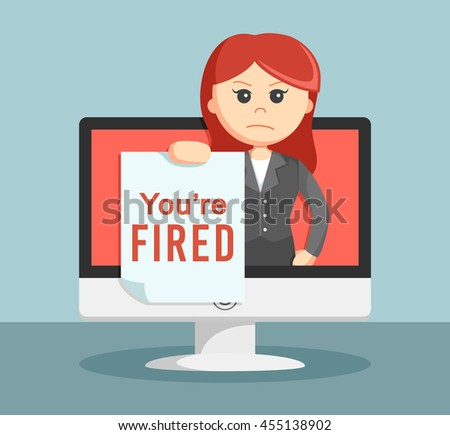 businesswoman notify if your fired