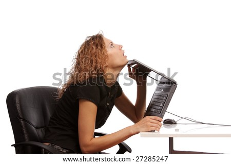 businesswoman - office - stock photo
