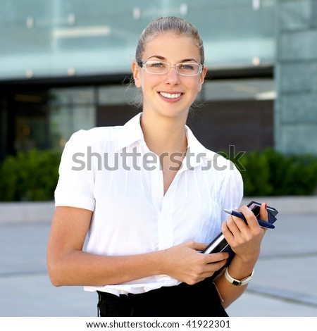 Businesswoman or young female student