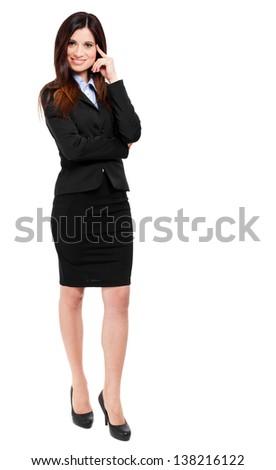 Businesswoman portrait full length  - stock photo