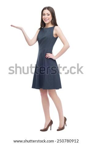 Businesswoman presenting something  - stock photo