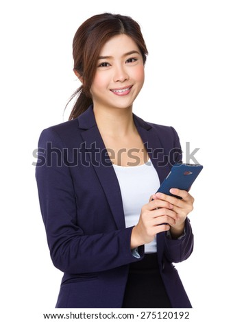 Businesswoman use of smartphone