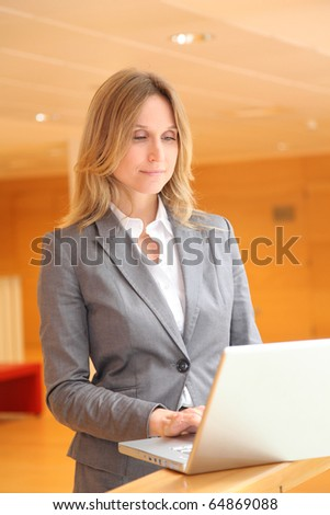 Businesswoman waiting for meeting - stock photo