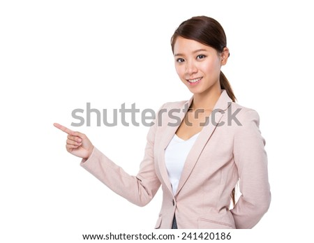 Businesswoman with show up