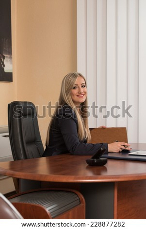 Businesswoman Writing A Letter - Notes Or Correspondence Or Signing A Document Or Agreement - stock photo