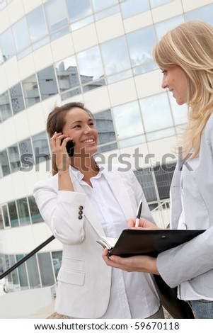 Businesswomen in a meeting - stock photo