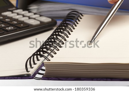 Bussines concept. Taking notes. - stock photo