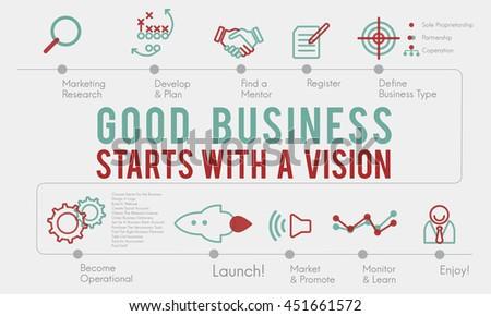 Bussiness Strategy Ideas Plan Progress Concept - stock photo
