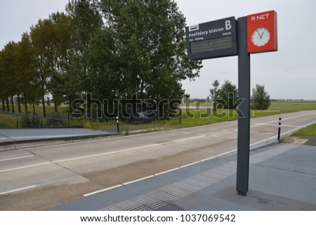 Busstop At Hoofddorp Station The Netherlands 2017