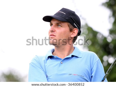 BUSSY-GUERMANTES, FRANCE  AUGUST 27: Florian Pogatschnigg (Aut) at the Prevens Trophee, an Alps and Allianz Golf Tour event, August 27, 2009 in Bussy-Guermantes Golf Club, France,