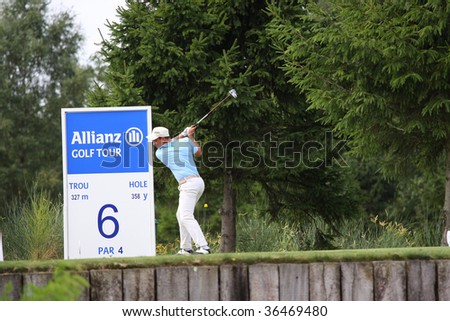 BUSSY-GUERMANTES, FRANCE - AUGUST 27 : Michele Zanini (ITA) at Alps and Allianz Golf Tour Prevens Trophee August 27, 2009 in Bussy-Guermantes, France.