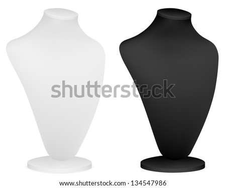 Bust for jewelry presentation. - stock photo