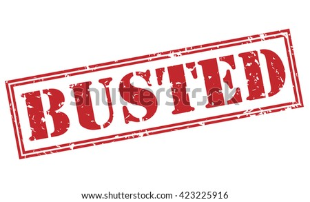 busted stamp - stock photo
