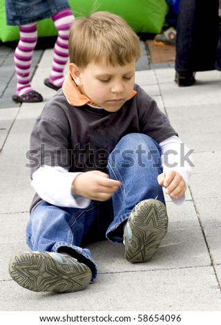 busy boy - stock photo