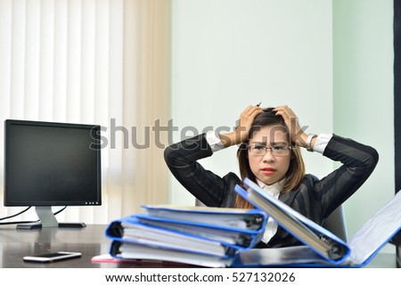 busy business woman having troubles
