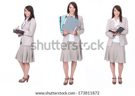 Busy businesswoman - stock photo