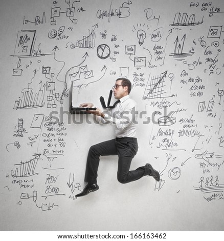 Busy Race - stock photo