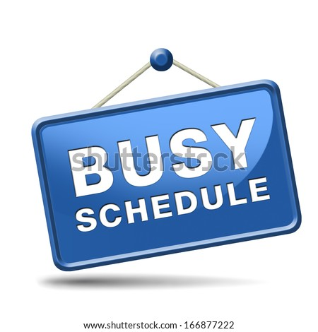 busy schedule full agenda need for time management - stock photo