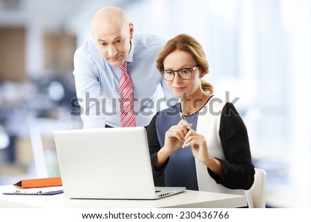Busy teamwork at office. Business people. - stock photo
