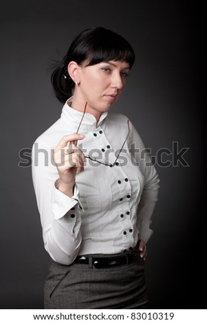 busy woman - stock photo