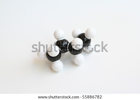 Butane Space-filling Molecule - stock photo