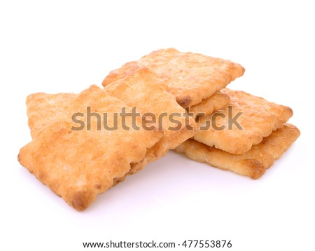 butter biscuits isolated on white