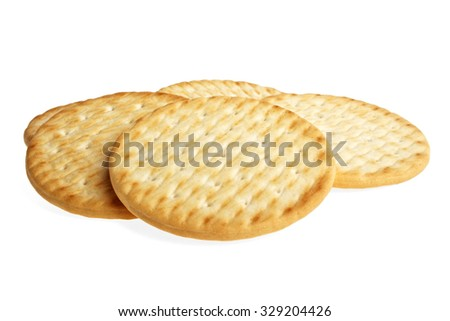 Butter biscuits on a white background