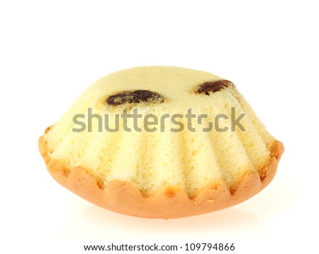 butter cake on white background